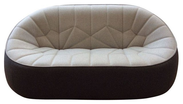 cinna ottoman love seat two tone moderne canap. Black Bedroom Furniture Sets. Home Design Ideas