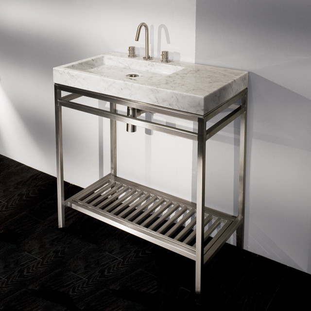 Lacava stone single bowl vanity modern bathroom vanities and sink consoles other by lacava for Single sink consoles bathroom