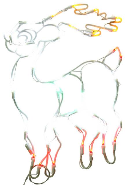 lighted led reindeer christmas window silhouette