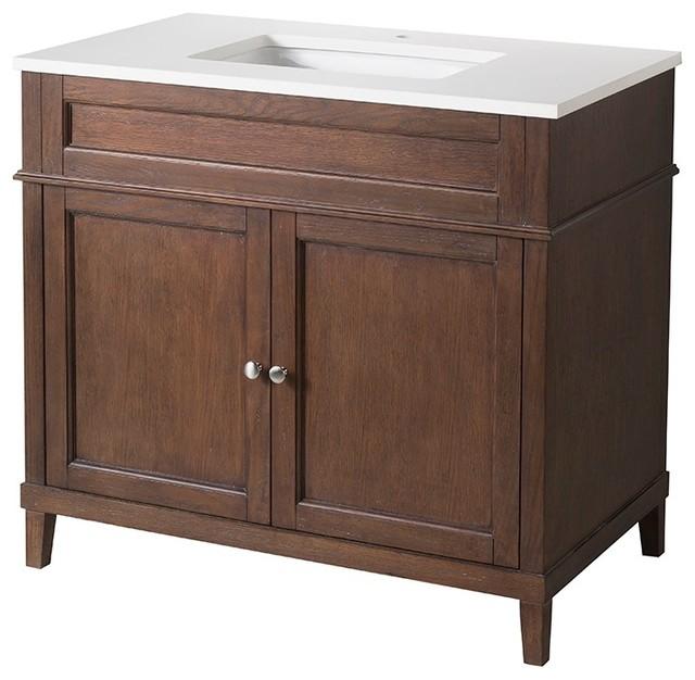Hamilton bathroom vanity 22 x37 x33 5 traditional bathroom vanities and sink consoles by for Bathroom vanities hamilton
