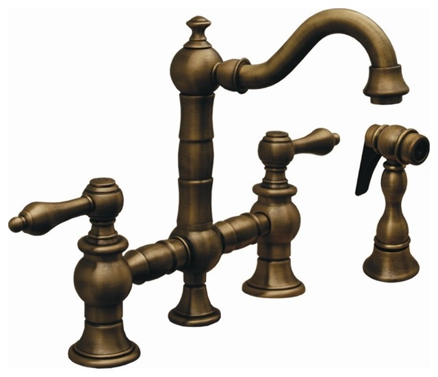 III Bridge Kitchen Faucet w Side Spray Oil Rubbed Bronze