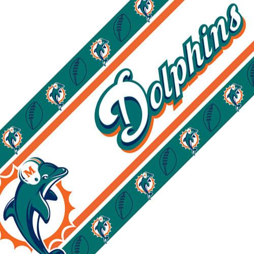 Nfl Miami Dolphins Football Peel Stick Wall Borders Roll