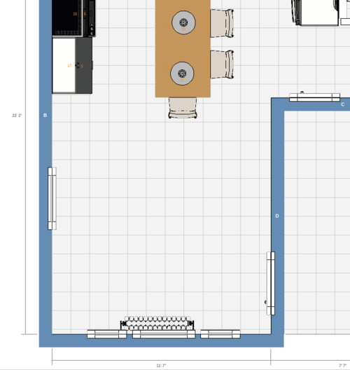 Help with dining room arrangement for 12x12 room for 12x12 room layout