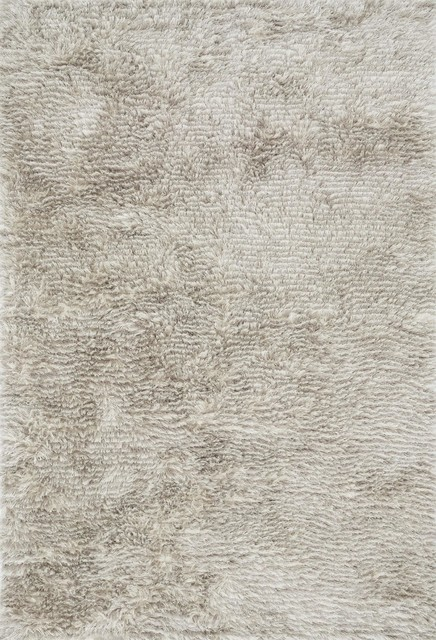 Contemporary Outdoor Patio Rugs : Garden Shag Modern Stone 36×56 Area Rug contemporaryou