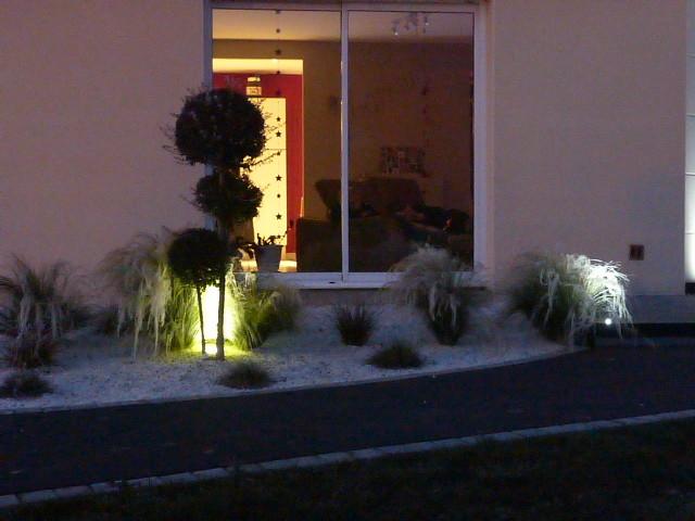 Nuit et givre sur le parterre de gramin es contemporain for Parterre contemporain