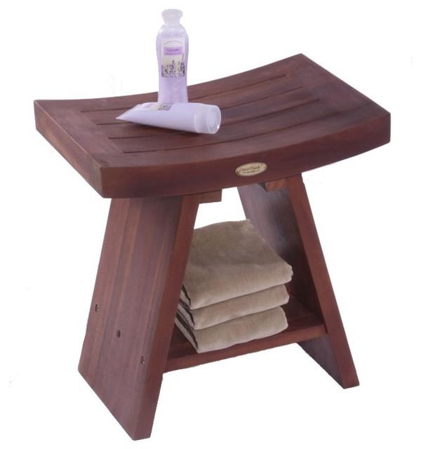 DecoTeak Asia Serenity Stool Asian Shower Benches Seats By Bathro