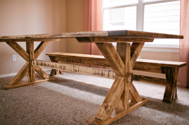 trestle tables and benches 1
