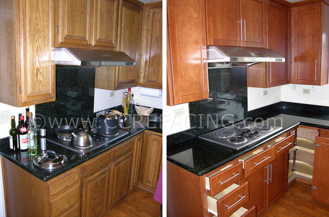 Foster City Kitchen Reface 2 - san francisco - by Custom Cabinet Refacing