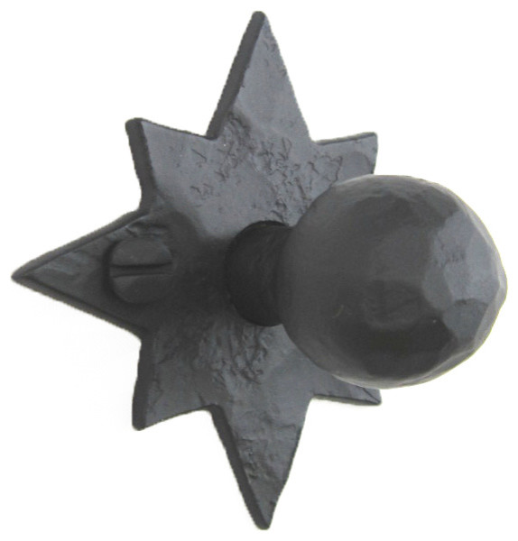 Rustic Hammered Star Wrought Iron Cabinet Knob HK5 - Southwestern - Cabinet And Drawer Knobs ...