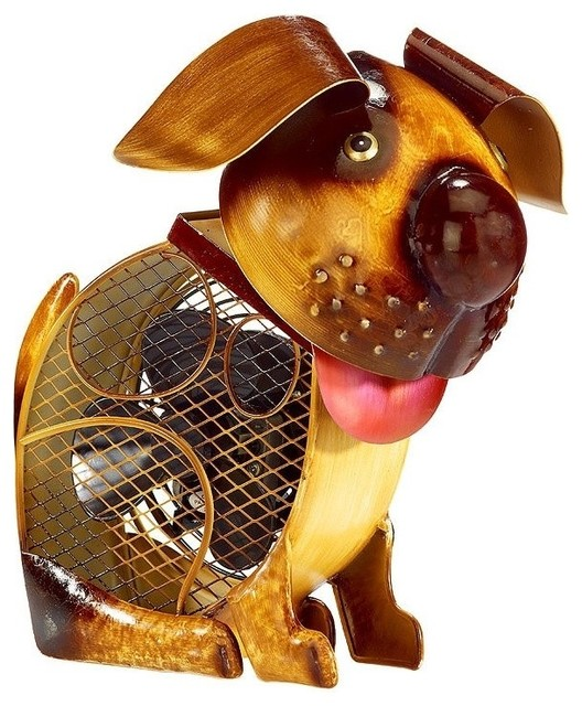Deco Breeze Country Dog Figurine Fan - Eclectic - Electric Fans - by Air & Water, Inc.