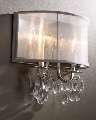 Wall Sconces And Matching Chandeliers : Shaded Chandelier Sconce - Contemporary - Wall Sconces - by Horchow
