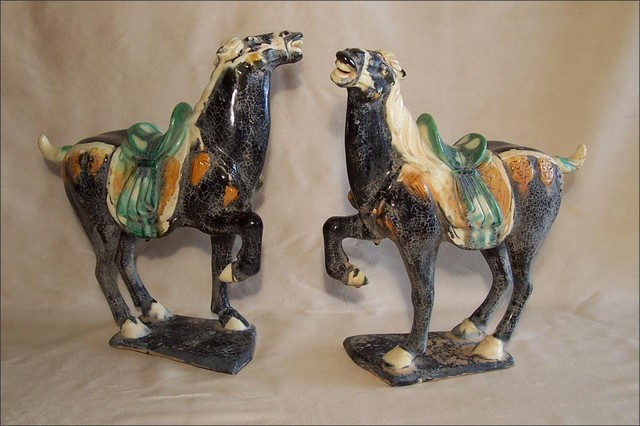 T 39 Ang Dynasty Horses Vintage Asian Home Accessories