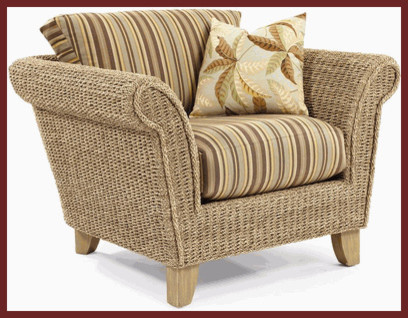 Island Way Seagrass Chair Traditional Outdoor Lounge
