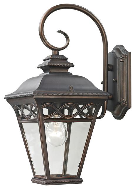 Cornerstone Mendham 1 Light Exterior Coach Lantern in Hazelnut Bronze - Traditional - Outdoor ...