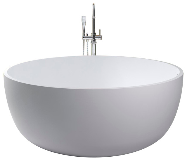 Adm free standing stone resin bathtub modern bathtubs for Freestanding stone resin bathtubs