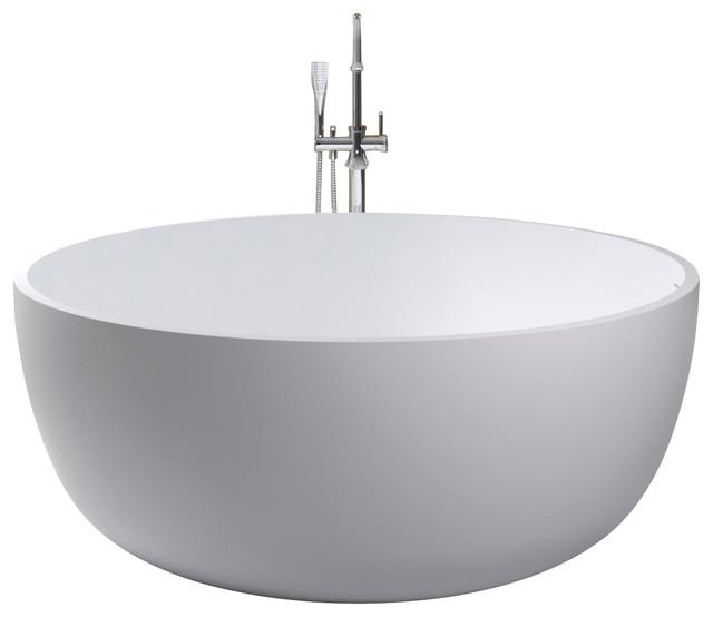 ADM Free Standing Stone Resin Bathtub Modern Bathtubs