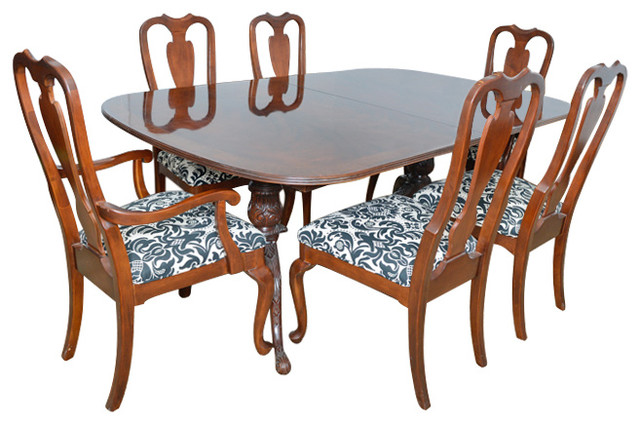 drexel heritage dining room table with six chairs dining