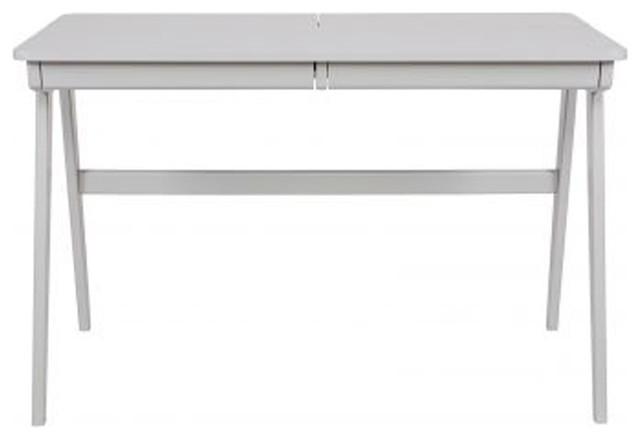 Bureau informatique en bois cambridge couleur gris for Bureau informatique gris