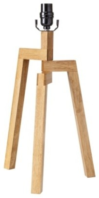 threshold wood tripod table lamp base with cfl modern lamp bases by target. Black Bedroom Furniture Sets. Home Design Ideas