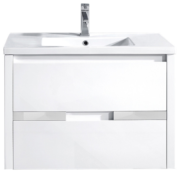 Flow Bathroom Vanity With Wall Mirror And Wall Cabinet Chocolate
