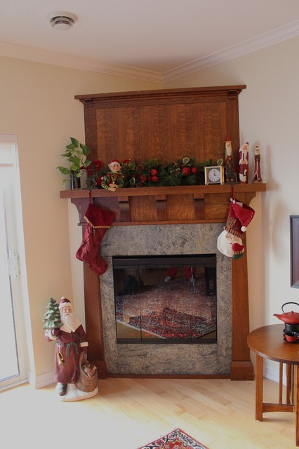 rustic crafts electric fireplace