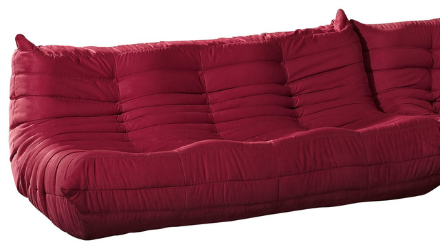 Wave Runner Sofa In Red Modern Corner Sofas By