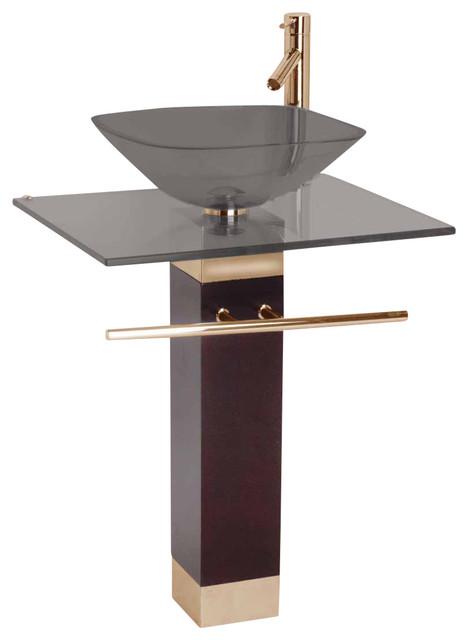 Designer Pedestal Sinks : Pedestal Sinks Smoke Glass Bohemia Sink Pedestal Sink modern-bathroom ...