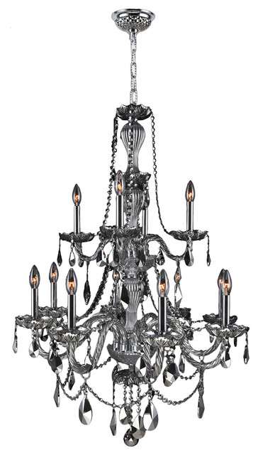 Crystal Chandelier  Two 2 Tier Transitional Chandeliers