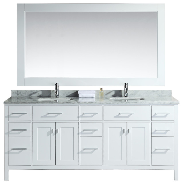 london 78 double sink vanity set white bathroom vanities and sink