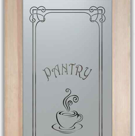 Pantry Door - Espresso - Eclectic - Pantry And Cabinet Organizers - Other - by Sans Soucie Art Glass