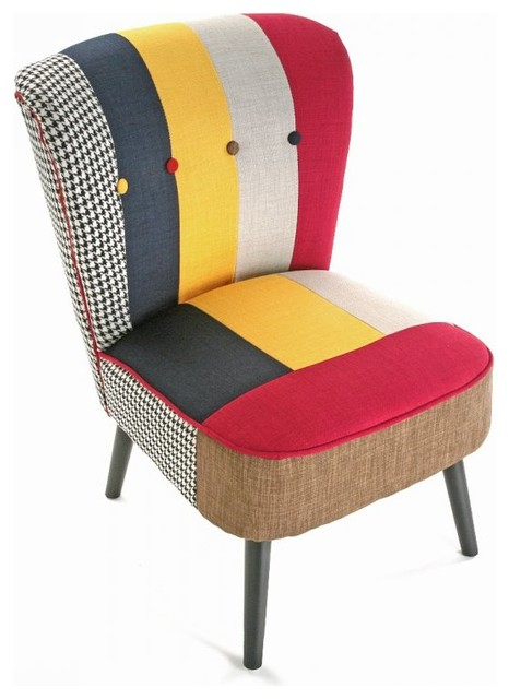 Solid fauteuil patchwork eclectic armchairs accent chairs by insi - Fauteuil crapaud patchwork ...
