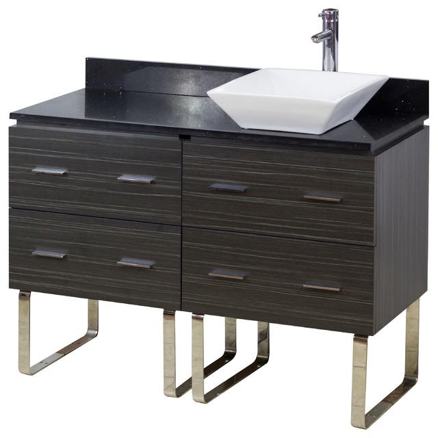 Plywood melamine vanity set dawn grey 48 x18 5 modern bathroom vanities and sink consoles - Moderne consoles ...