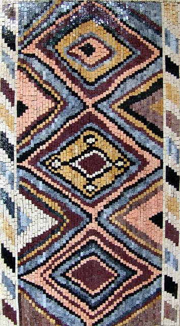 Turkish rug mosaic jaleh 39x71 southwestern floor for Southwestern flooring