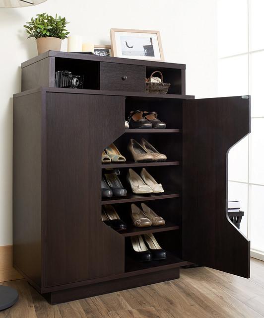 Espresso Masuyo Modern Storage Cabinet - Modern - Accent ...