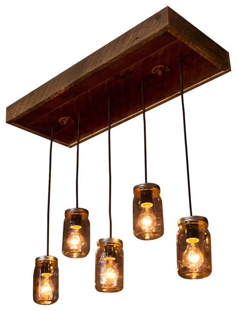 Rustic Reclaimed Wood Chandelier