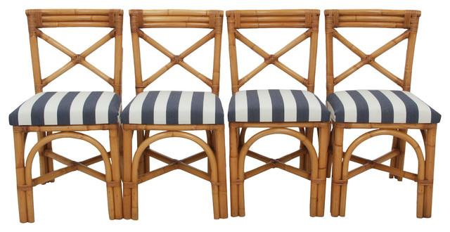 Walter Wabash Bamboo Chairs S 4 Contemporary Dining Chairs