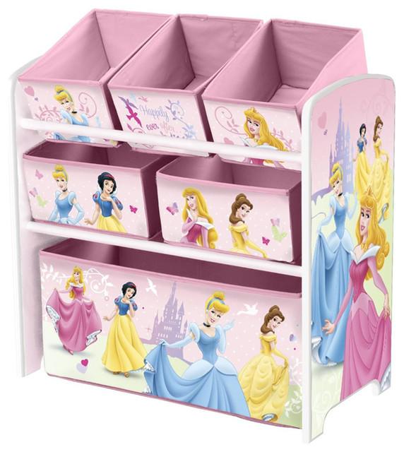 Captivating Pink Little Children Girls Princess Toy Storage Organizer Box .