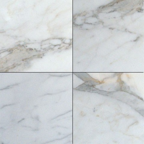 12x12 Polished Calacatta Gold Marble Tile Sample