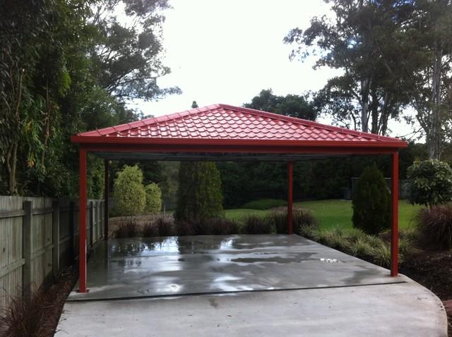 Metal carport roofing modern melbourne by metile metal tile