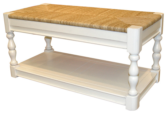Cottage Newport Bench White Beach Style Accent And Storage Benches By Custom Furniture World