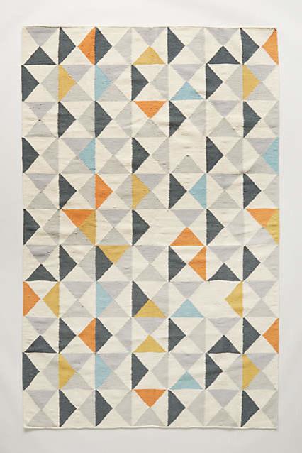 Uk Stylish Geometric Pattern Perfect Symmetry Flat Woven Rug Floor Rugs