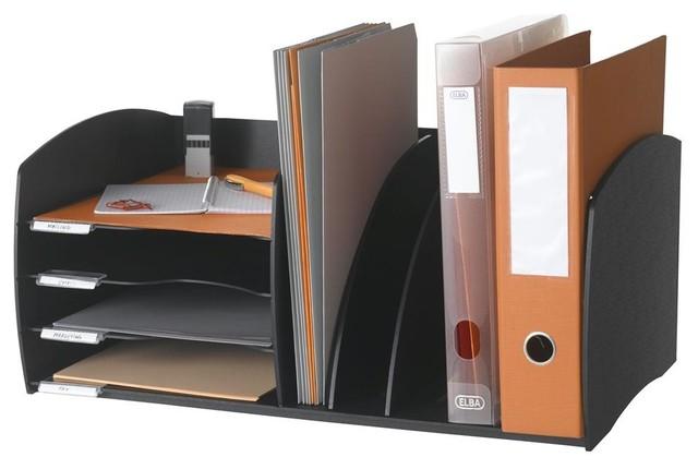 Desktop evolution organizer in black contemporary desk - Modern desk accessories and organizers ...