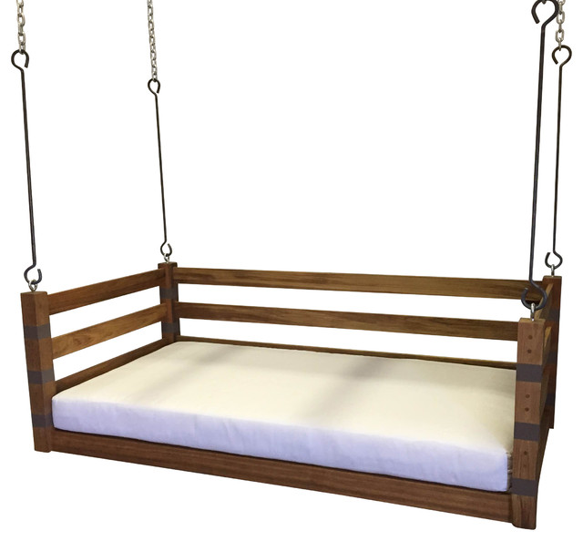 Porch swing the ion swing bed bedswing farmhouse for Farmhouse porch swing