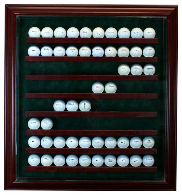 80 Golf Ball Cabinet Style Display Case - Traditional - Storage And Organization - by Perfect ...