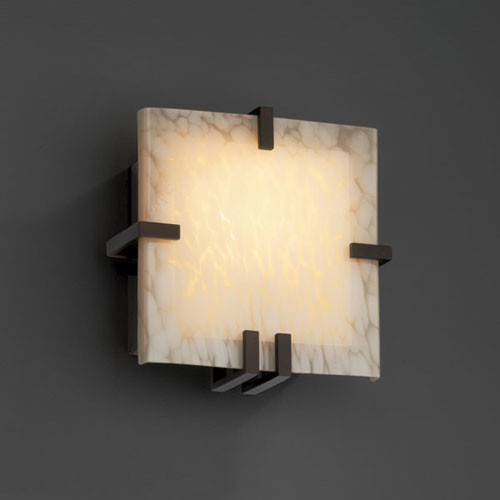 Vanity Lights Clip On : Fusion Clips Square Fluorescent Dark Bronze Wall Sconce - Contemporary - Bathroom Vanity ...