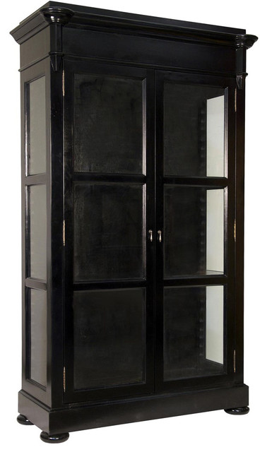 ... Colton Hutch, Distressed Black traditional-china-cabinets-and-hutches