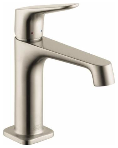 Hansgrohe single hole bathroom faucet w lever handle free metal pop up drain modern - Hansgrohe pop up drain ...