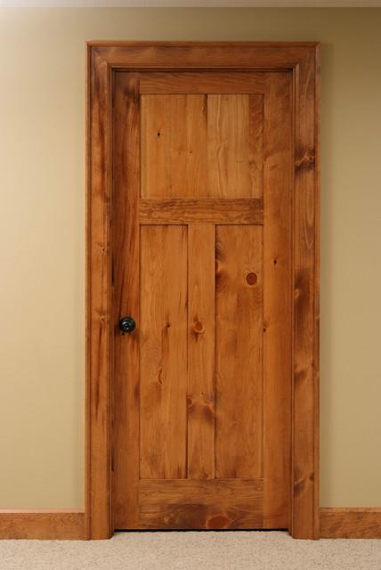 Knotty Pine Shaker Style Interior Door Contemporary