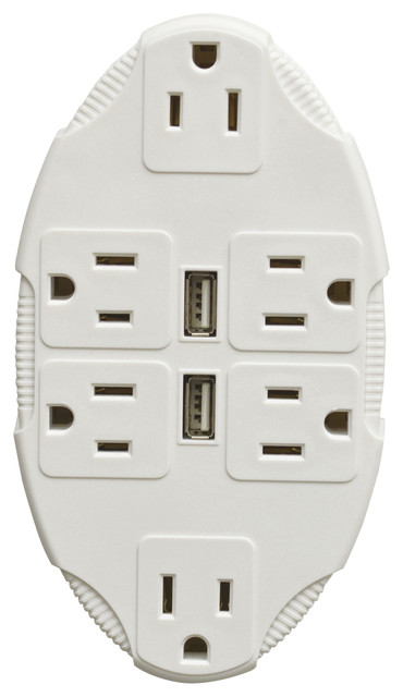 Usb outlet multiplier modern switches and outlets by jobar international - Electrical outlet multiplier ...