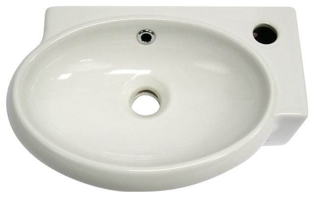 Small White Sink : ALFI Small White Wall Mounted Ceramic Bathroom Sink Basin contemporary ...